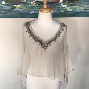 Abercrombie & Fitch beaded blouse